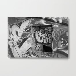 Urban graffiti Miami Abandoned Marina Stadium in Key Biscayne Metal Print