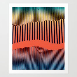 Unfolds Mountain Art Print