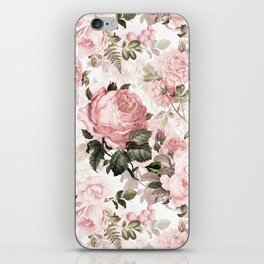 Vintage & Shabby Chic - Sepia Pink Roses iPhone Skin