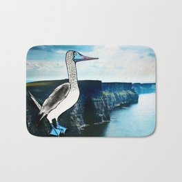 The Blue-footed booby Bath Mat