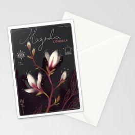 """Botanical illustration """"Magnolia Cylindrica"""" Stationery Cards"""