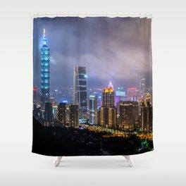 Lights of Taipei Shower Curtain