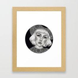 Girl with hat Framed Art Print