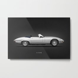 Jaguar E-Type Roadster Metal Print