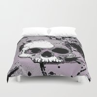 funky Duvet Covers featuring Funky Skull by MehrFarbeimLeben