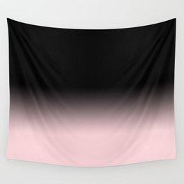 Modern abstract elegant black blush pink gradient pattern Wall Tapestry