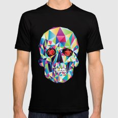 Geometric Candy Skull MEDIUM Mens Fitted Tee Black