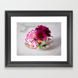 Shabby chic floral Framed Art Print