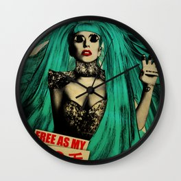 Free As My Hair Wall Clock