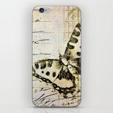 golden butterfly postale iPhone & iPod Skin