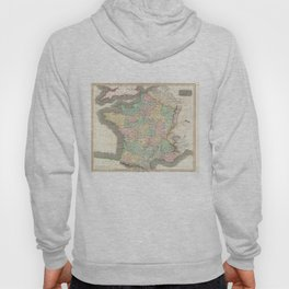 Vintage Map of France (1814) Hoody
