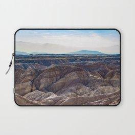 Looking across the Borrego Badlands Canyons towards the Hazy Mountainsin the Anza Borrego Desert Laptop Sleeve