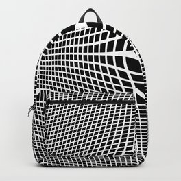 White On Black Convex Backpack