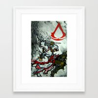 assassins creed Framed Art Prints featuring Assassins Creed  by RISE Arts