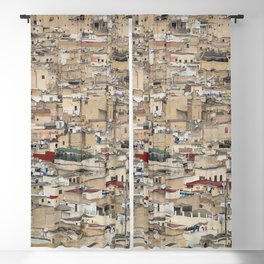Skyline Roofs of Fes Marocco Blackout Curtain