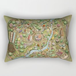 Astranella Map Rectangular Pillow