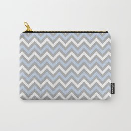 Chevron - light blue and grey Carry-All Pouch