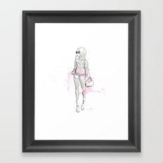 Damsel Pencil Sketch 2 Framed Art Print