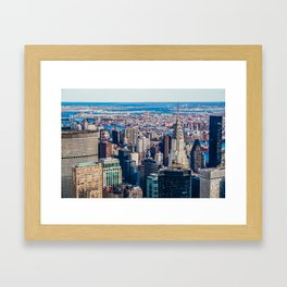 Midtown from top (HDR Color) Framed Art Print