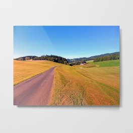 Country road with scenery | landscape photography Metal Print