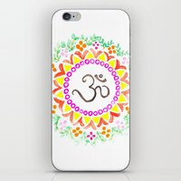 ohm iPhone & iPod Skins featuring Ohm / OM  by HollyJonesEcu