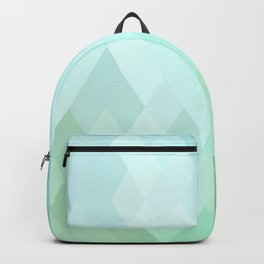 Shades of  Blue Diamonds Abstract Backpack