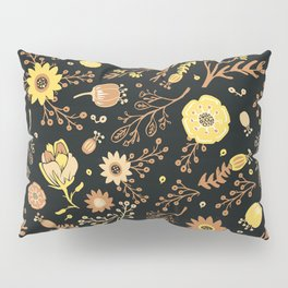 Golden Florals Pillow Sham