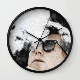 JFK Cigar and Sunglasses Cool President Photo Photo paper poster Color Wall Clock