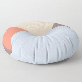 Deyoung Blue Retro Floor Pillow