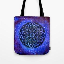 Anatomandala I x Watercolor Nebula Tote Bag