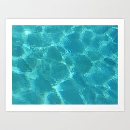 Turquoise Blue Water Art Print