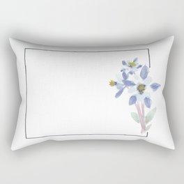 colorado // watercolor columbine state flower map Rectangular Pillow