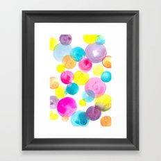 Confetti paint Framed Art Print