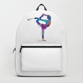 Rhythmic Gymnastics Girl Clubs Gymnastic Clubs Gift Colorful Watercolor Art Flexible Girls Backpack