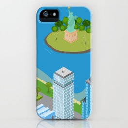 Helicopter tour of New York City II. iPhone Case