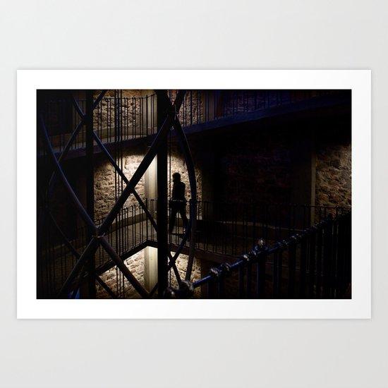 + Inside the Tower, Prague (czk) Art Print