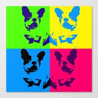 doge Canvas Prints featuring doge by vidikay