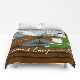 The Colorado Lounge at the Overlook Hotel Comforters