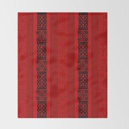 Viking red II Throw Blanket