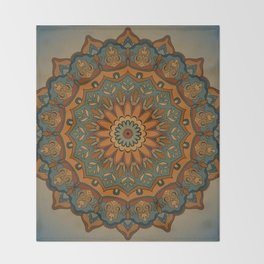 Moroccan sun Throw Blanket