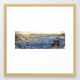Don Knotts Boulevard in Winter Framed Art Print