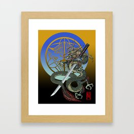 Dragon katana Uesugi Framed Art Print