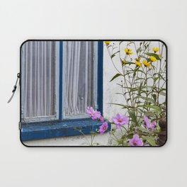 Old Blue Window And Front Yard Laptop Sleeve
