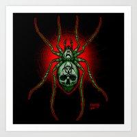 Arachnazrael Art Print