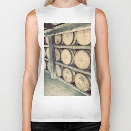 Kentucky Bourbon Barrels Color Photo Biker Tank