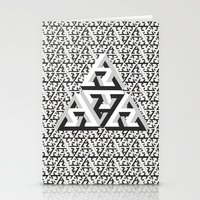 escher Stationery Cards featuring Escher Pattern by HeroStatus