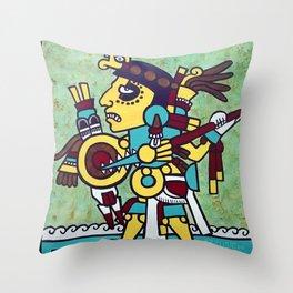 Mixtec Warrior Throw Pillow