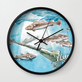 Pesca sin arpón Wall Clock