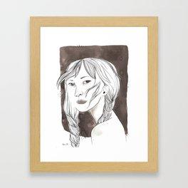 Don't look Framed Art Print