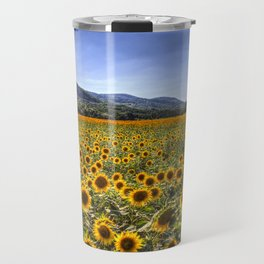 Sunflower Summer Field Travel Mug